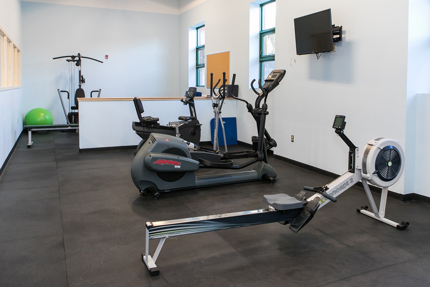 Gym and exercise room