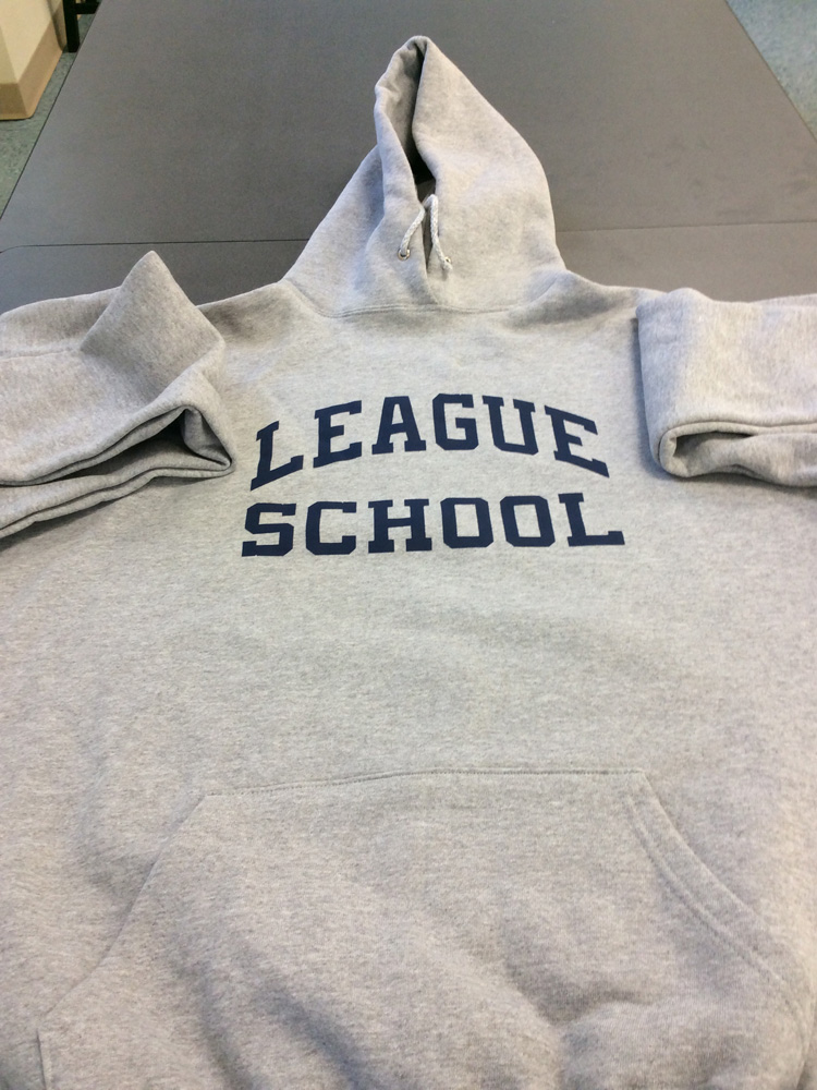 Grey League Hoodie