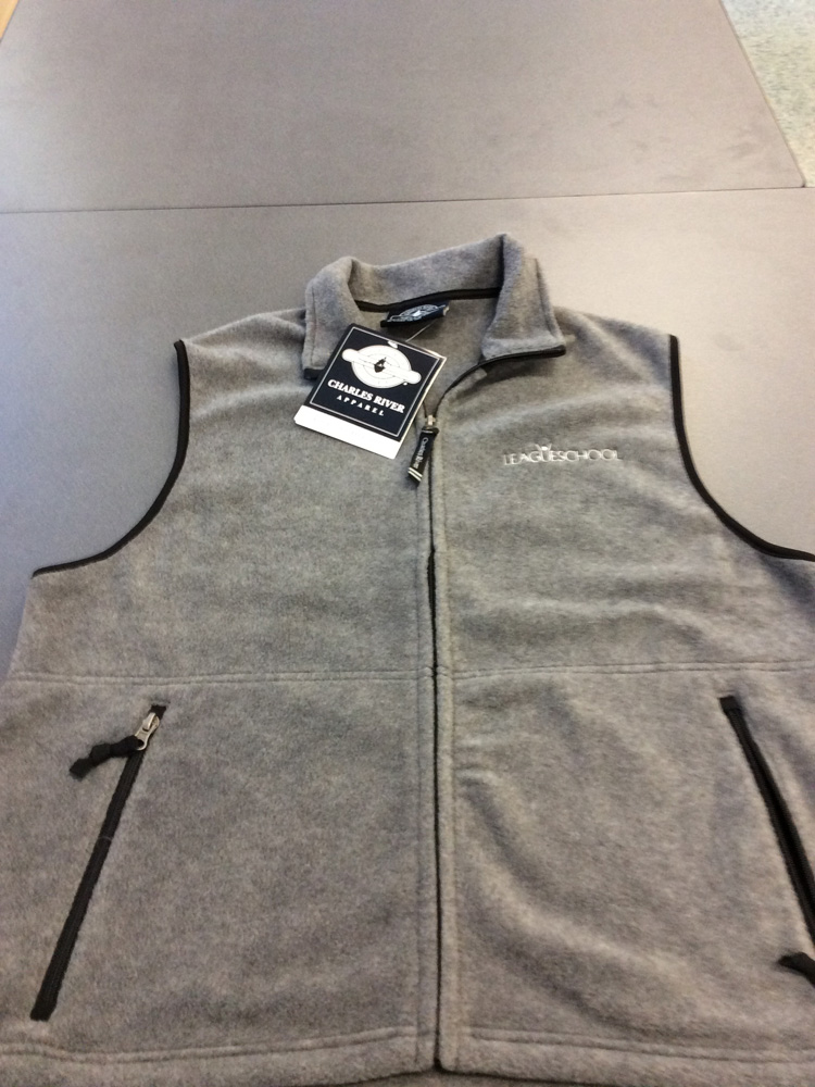 Light Grey League Fleece Vest